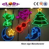 Da decoração macia da luz de néon do diodo emissor de luz sinal de néon