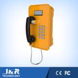 防水電話、SIP鉱山の電話、LCD表示が付いている緊急の電話