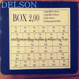 Jogo de borracha do anel-O caixa métrica vermelha/verde/amarelo 2mm 30size 406PCS