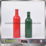 Bouteille en aluminium de long collet simple pour des additifs d'essence