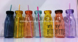 StrawのプラスチックMilk Bottle