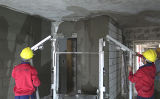 살포 기계 시멘트 연출 기계를 회반죽 벽