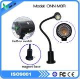 Onn-M3r 기계 LED 자석 기초를 가진 유연한 거위 목 모양의 관 빛
