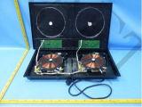 El doble de escritorio de la cubierta del ABS quema la cocina de la inducción con la cocina infrarroja 4kw