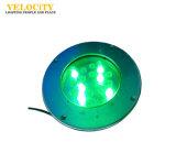 colore di 18With24W DC24V IP68 che cambia l'acciaio inossidabile della lampada LED del LED dell'indicatore luminoso subacqueo della piscina