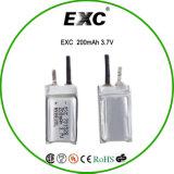 Bateria do polímero do lítio 200mAh da bateria recarregável 3.7V 701528 para o GPS