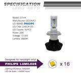 lâmpada principal da parte dianteira da lâmpada do diodo emissor de luz do carro de 4000lm H4 a Philips auto