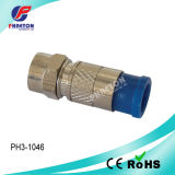 Rg59 RG6 Compression RF Cable Connector (pH6-5004)