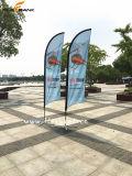 2.8m Ausstellung-doppelte seitliche Drucken-Fliegen-Aluminiummarkierungsfahne/Feder-Markierungsfahne