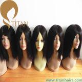 Perruque du lacet de Vierge de 100% pleine des femmes noirs normaux de cheveux humains
