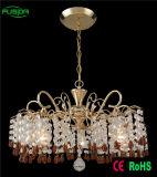 Giù illuminazione a cristallo moderna del lampadario a bracci per il salone
