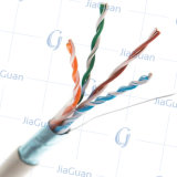 Cable de LAN sólido Twisted de calidad superior de Cat5e UTP 4p 24AWG
