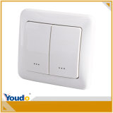 Smart Home Alarma Interruptor del sistema Z-Wave de doble pared