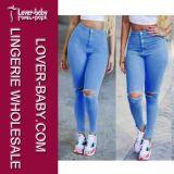 Pantaloni scarni dei pantaloni delle ragazze di modo sexy della fessura (L457)