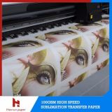 100GSM 24 '' / 36 '' / 44 '' / 54 '' / 63 '' / 64 '' / 72 '' High Speed ​​rapide Papier Sublimation sec
