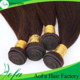 Neue Haarpflegemittelbrown-Farbe menschliches natürliches mongolisches Remy Haar