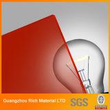 Farbe warf Acrylblatt-Plastikplexiglas-Blatt