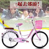 China-populäres Straßen-Stadt-Fahrrad-Dame-Schleife-Rosa-Fahrrad für Verkauf