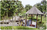 Kaiqi hölzerne Hütte-im Freienspielplatz-Geräte für Anziehungskräfte, Schule, Wohn, Garten, Park