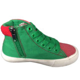 Ботинки холстины красных/серых детей новой модели причудливый для мальчиков/девушок