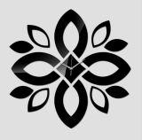 Reloj de pared de acrílico clásico de Rubian - negro