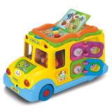 장난감 차 아이 선물 건전지에 의하여 운영한 차 (H0895057)가 전차에 의하여 농담을 한다