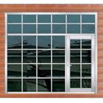 Het Venster van de Zaal van de Deur van /Entrance van de Deur van het Staal van /Stainless van het venster (6731)
