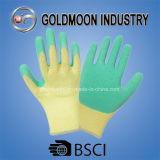 резьбы 10g 5 желтеют перчатку работы безопасности латекса вкладыша зеленую