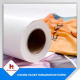 papier d'imprimerie visqueux de transfert de sublimation du l'Anti-Ordinateur de secours 100GSM pour des vêtements de sport/usure active