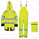 Standard riflettente d'avvertimento impermeabile di Wtith En471 del cappotto di pioggia
