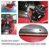 machine de découpage de laser de fibre de plaque d'acier inoxydable de 500W Wuhan