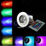 Fern3w RGB 16 LED Decken-Scheinwerfer der Farben-KTV