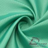 Água & do Sportswear tela 100% pontilhada tecida do poliéster do filamento do jacquard para baixo revestimento ao ar livre Vento-Resistente (53096)