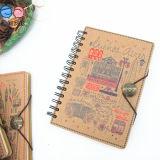 Напечатанная таможней спиральн тетрадь книга в твердой обложке A5 (XL-32K-TX-01)