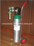 Zylinder des Atemsauerstoffs 10L mit Italien-O2-Ventil u. Regler