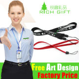 Clip in lega di zinco Attached Multi-Color Woven Lanyard per Mobile Phone
