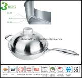 Wok cinese un materiale composito 3 della piega Sc290