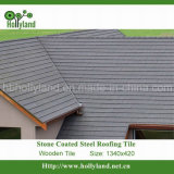 Telha de telhado revestida de pedra do metal (telha de madeira)
