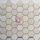 Bege moagem e Face Natural Marble Mixed Mosaic Tile (CFS1046)