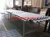 Hojas acanaladas de bambú del material para techos que hacen la máquina