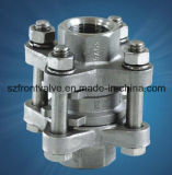 Нержавеющая сталь отливки точности привинчила задерживающий клапан вертикали 1PC-Spring