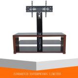 Wohnzimmer-Möbel-moderner ausgeglichenes Glas LED/LCD Fernsehapparat-Standplatz