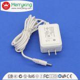 AC de 12V 1000mA 15V 800mA à l'adaptateur de pouvoir de support de mur de C.C avec le CERT de la DAINE VI de FCC d'UL