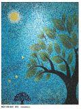 La vendita calda Foshan Mano-Ha tagliato il mosaico di vetro di mosaico di arte della parete di disegno