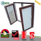 Rehau 70mm UPVC Plastikneigung-Drehung-Fenster-Entwurf