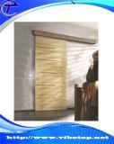納屋の大戸のハードウェアを滑らせる現代内部アルミニウム木