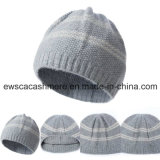 Женская Top Grade Pure Cashmere Hat с лампасами A16wa4-001