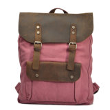 Heißer Sell Vintage Canvas Rucksack Hiking Bag mit Genuine Leather From Manufacturer (RS-2166D)