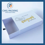 Rectángulo de papel de empaquetado de regalo del cosmético rígido de lujo del rectángulo (CMG-PGB-017)