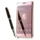 Phone móvel Flip Cover Electroplate Mirror Caso para Samsung S6